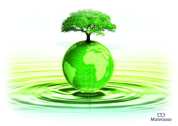zielone ziemia i drzewo na kropli wody
