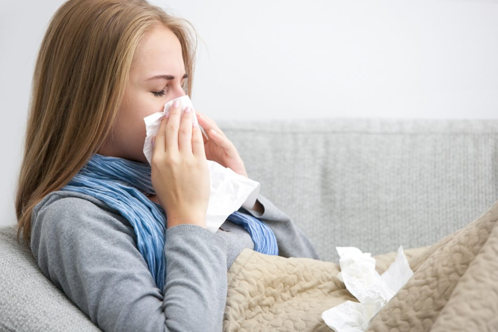sen a przeziębienie