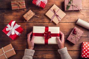 materac prezent na święta